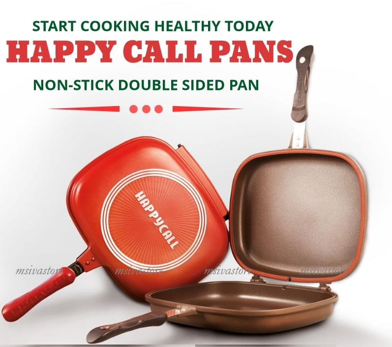 HappyCall- Non Stick Double Side Fry / Grill Pan JUMBO SIZE 32cm