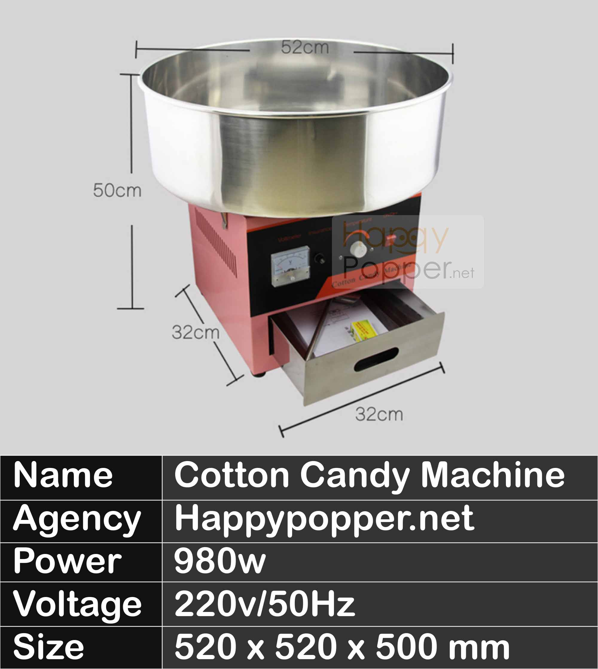 HAPPYPOPPER-COTTON CANDY MAKER