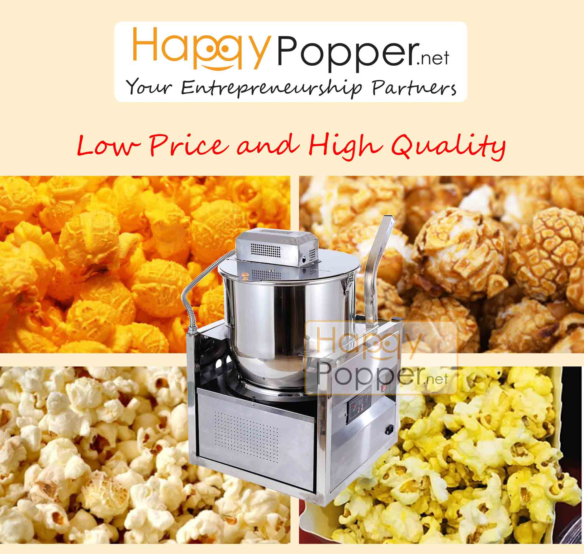 happypopper - popcorn machine 16oz table top (Electric)