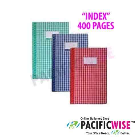 Hard Cover Book Foolscap 400 pg 'Index'