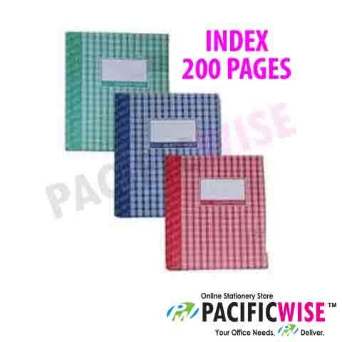Hard Cover Book Quarto Book F5 Index (200 Pages)