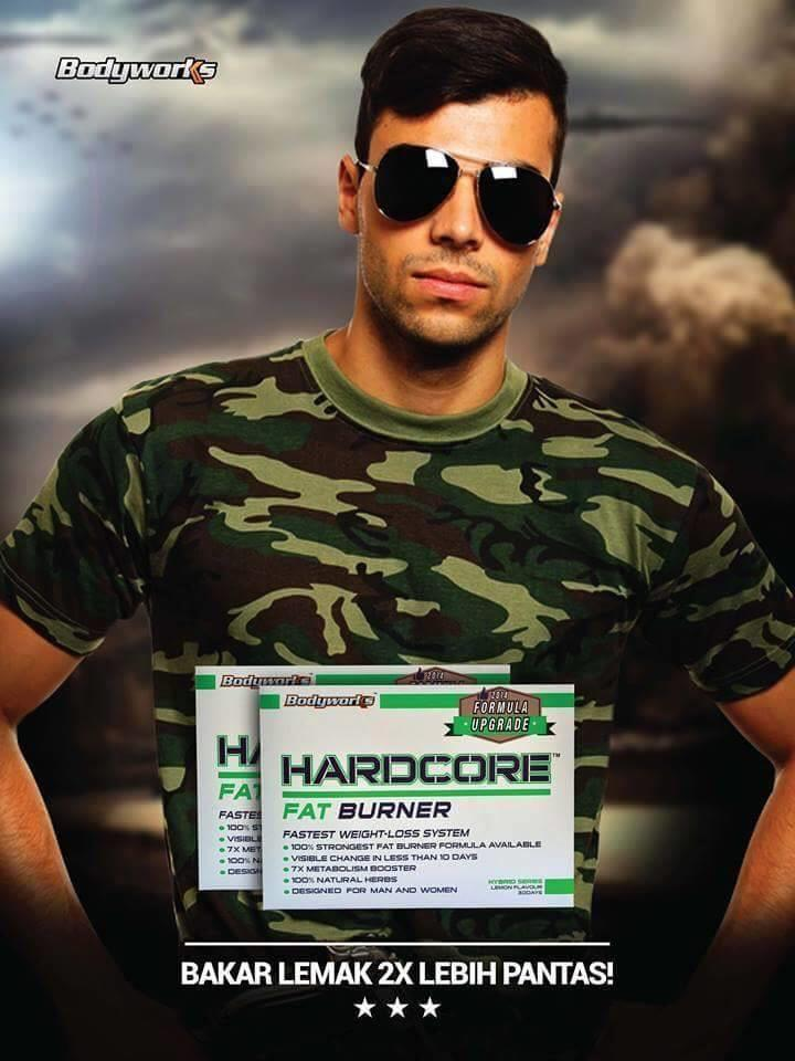 Hardcore fat Burner by Bodyworks FREE SHIPPING + EXTRA GIFT