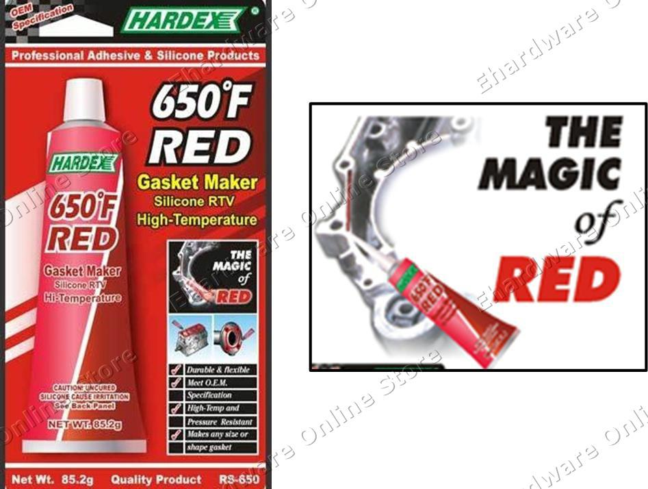 HARDEX Hi-Temp RTV Silicone Red Gasket Maker 85 2g (RS650)