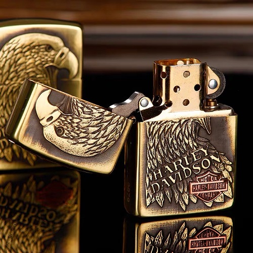 Harley Davidson Eagle Head Zippo Lighter