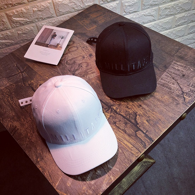 d4b10984b96 Hat Spring and Summer Wild Letters Embroidery Casual Sun Hat Men Cap. ‹ ›