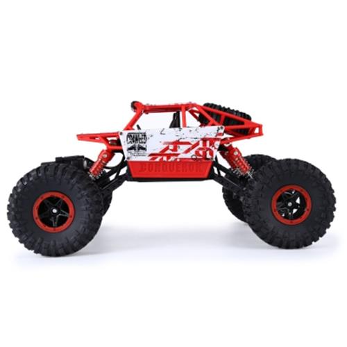 HB P1803 2 4GHZ 1:18 SCALE RC ROCK CRAWLER 4WD OFF-ROAD RACE TRUCK TOY (RED)