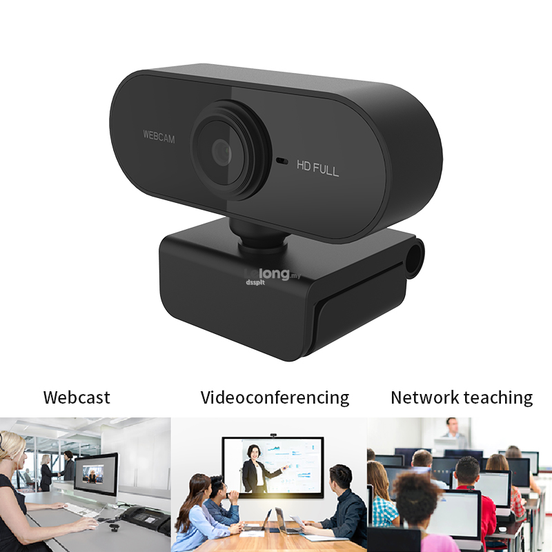 HD 1080P Webcam Auto Focus Web Camera with Built-in For Online