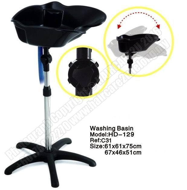HD-129 Standalone Portable Fiber Hair Washing Basin Point