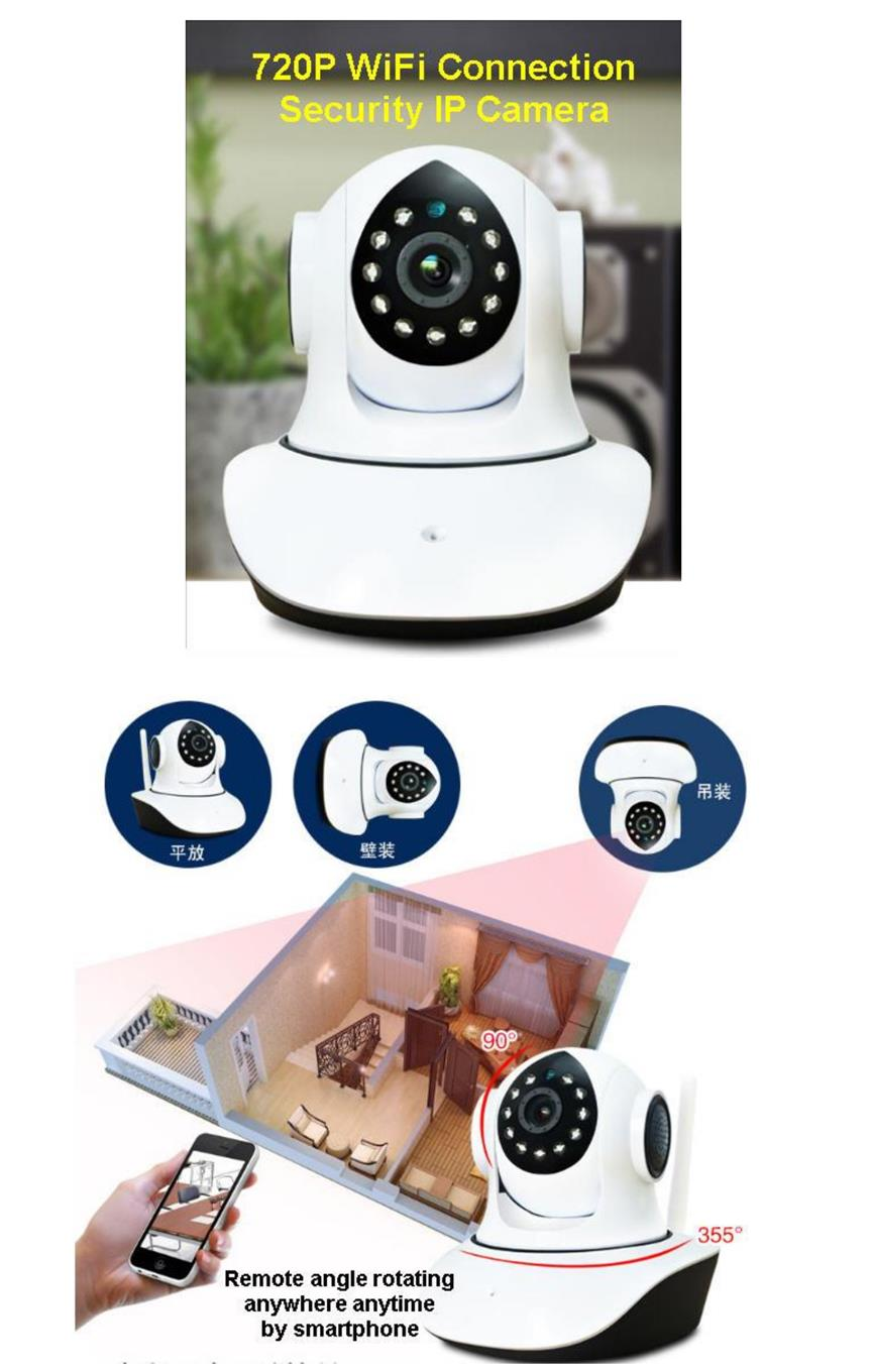 HD 720p P2P WIFI IP CCTV  Camera With MOTION DETECTION & Night Vision