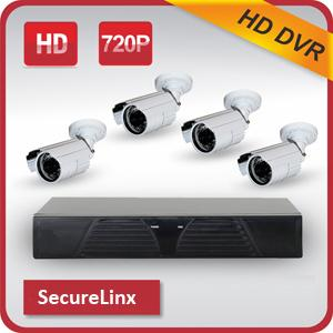 HD Camera + 4 Channel CCTV System H.264 HD