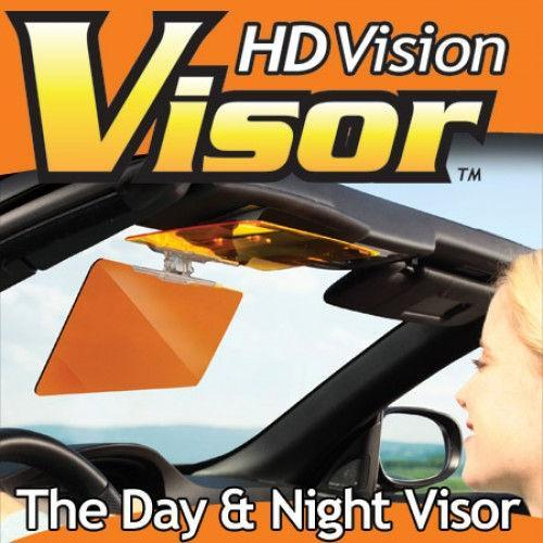 HD Vision Day Night Car Sun Visor Flip Down Glare Anti Dazzle Mirror