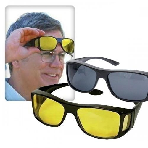 *HD Vision ^Sunglasses Wrap Around Anti Glare Glasses Driving-Black