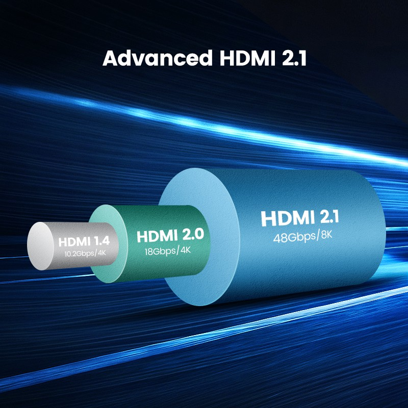 HDMI 2.1 Cable 8k/60hz 4k/120hz 48gbps HDcp2.2 HDMI Cable Cord  - [1M]