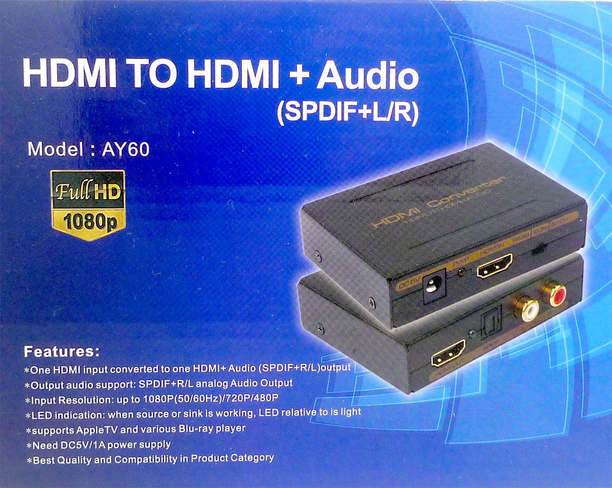 Hdmi Audio Extractor Splitter Spdif End 3 16 2020 615 Am Three Channel Stereo Out Rca