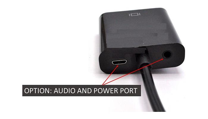 HDMI (M) TO VGA (F) WITH POWER + 3.5MM AUDIO CONVERTER (S270)