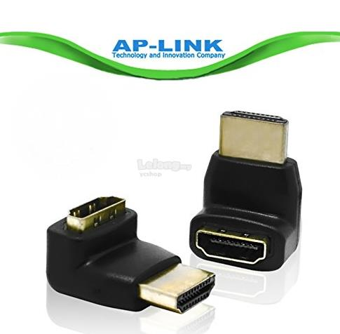 HDMI MALE TO FEMALE VERSION 1.4 90 DEGREE ANGLE ADAPTER (AP05)