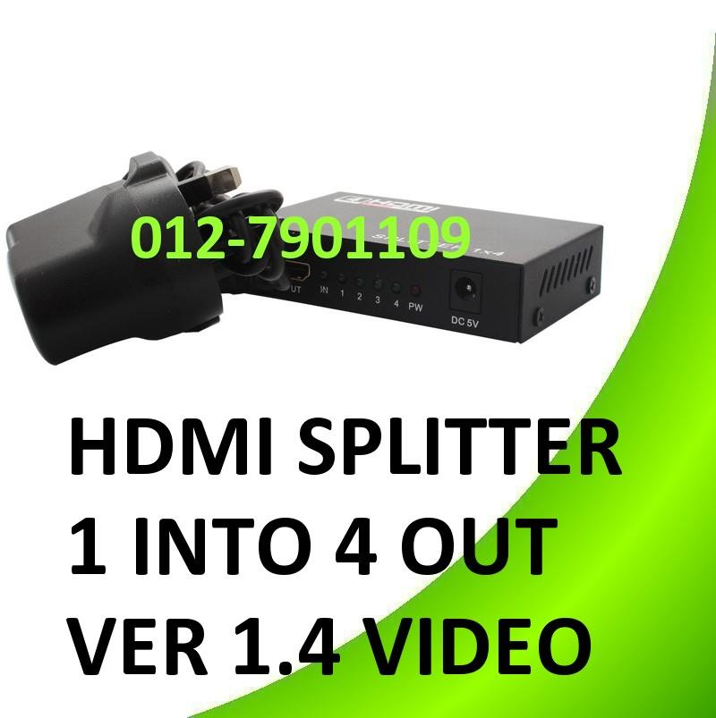 HDMI Splitter 1 In To 4 Out Ver 1.4 Video Splitter Repeater
