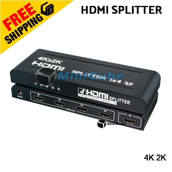 HDMI Splitter 1080p 4K 2K 3D 1 In 4 (end 6/28/2022 12:00 AM