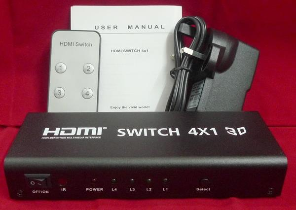 HDMI Switch 4 in 1 out with audio converter 3.5mm coaxial Toslink 4k
