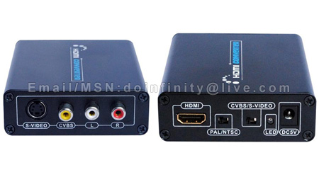 HDMI to 3 RCA Composite Video S-Video Audio AV Converter PS3 TV New