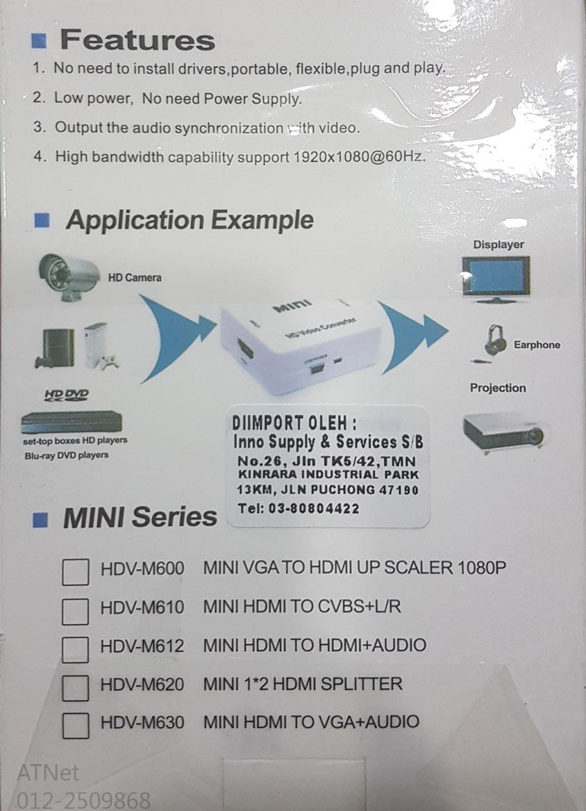 HDMI TO AV CONVERTER TV14