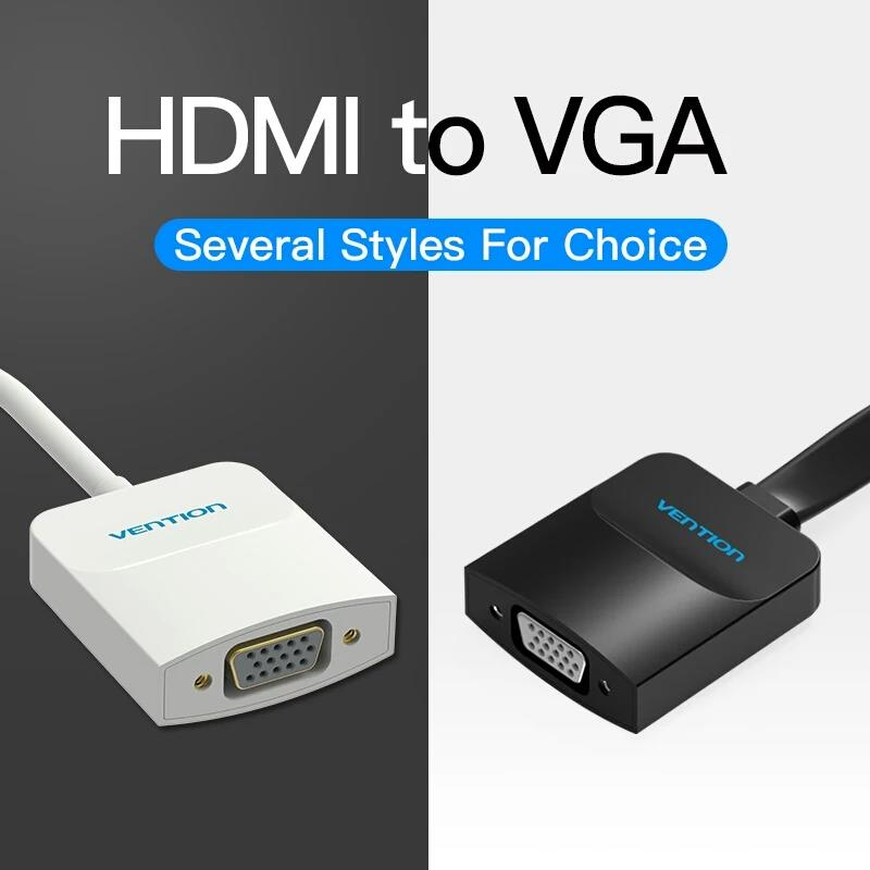 HDMI To VGA Adapter Cable For Xbox PS3 PS4 Laptop TV Box Support 1080P