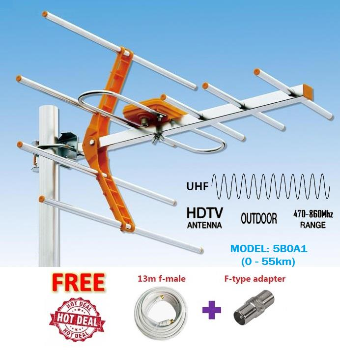 Hdtv Analog Digital Tv Indoor Outdoor Antenna Uhf Freeview