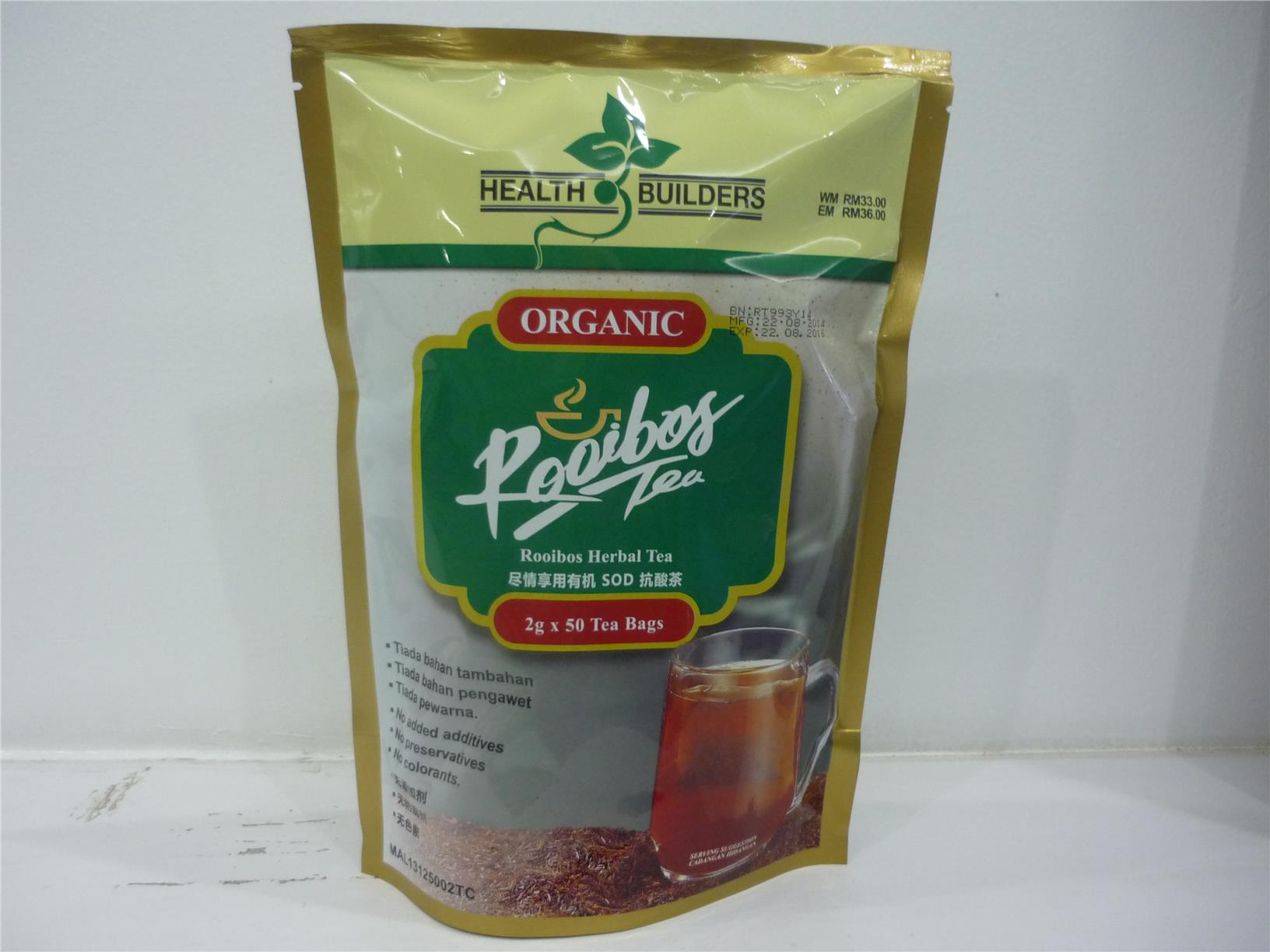 Health Builders Organic Rooibos Tea (1 pack)