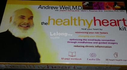 THE HEALTHY HEART KIT - ANDREW WEIL MD (CD + WORKBOOK + CARD)