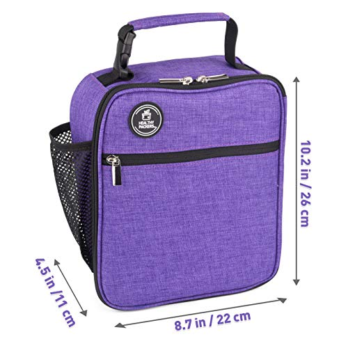 Healthy Packers Insulated Lunch Box for Adults and Kids w/ 2 Slim Long Lasting