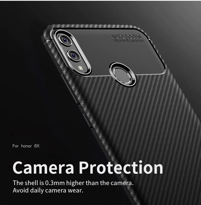 "(Heat Release) Carbon Fiber Slim TPU Case Cover Huawei Honor 8X (6.5"")"