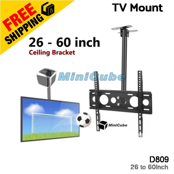 Heavy Duty Adjustable 26-60 Inch LCD TV Wall Ceiling Mount Bracket