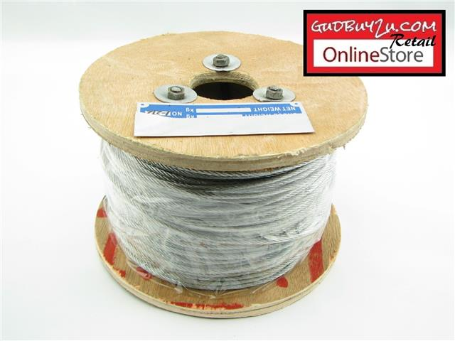 HEAVY DUTY GALVANIZED WIRE ROPE – 1.5MM - 12MM X 140M / 128M
