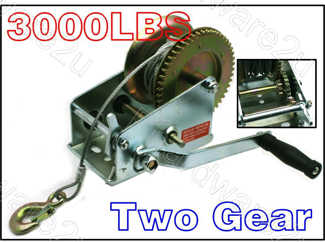 Heavy Duty Hand Winch Trailer With 10M Cable 1600-3000lbs (HWCOS)