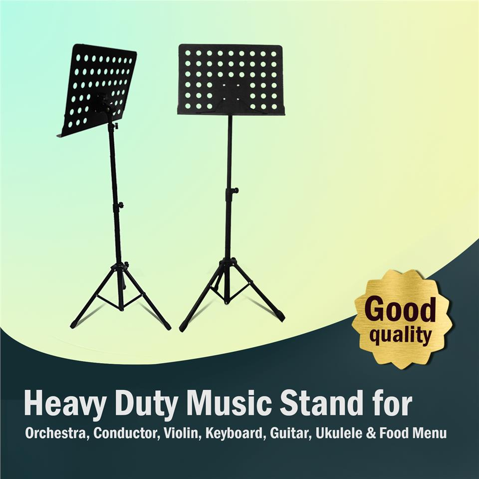 Heavy Duty Music Stand for Orchestra, Conductor, Violin, Keyboard
