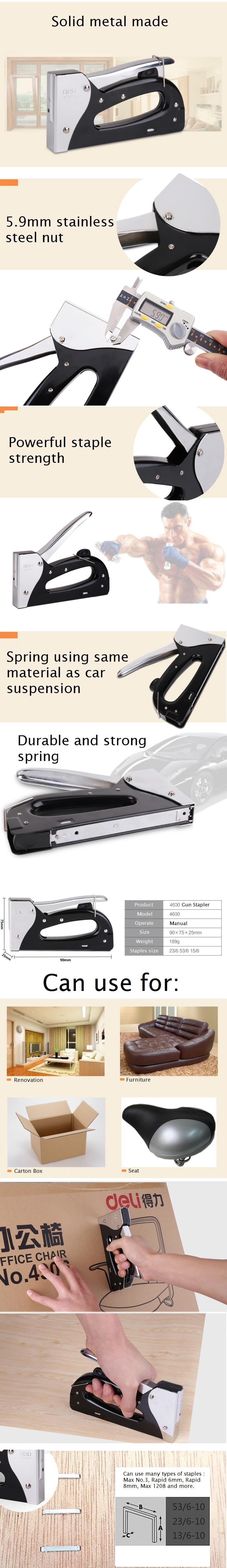 Heavy Duty Staple Gun Tacker