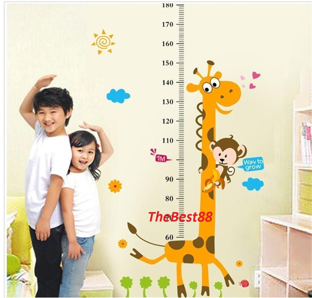 height chart removable wall stickers end 5 18 2018 5 15 pm height chart removable wall stickers kids nursery decor giraffe