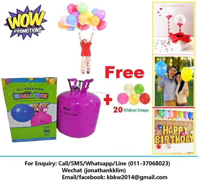 Helium Gas Balloon Gas Tank / Package Promotion! RM110 Free Ribbon