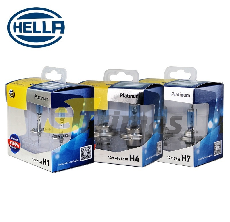 Hella Platinum Car Headlamp Fog Bulb H1/H3/H4/H7/H11/HB3/HB4 Osram