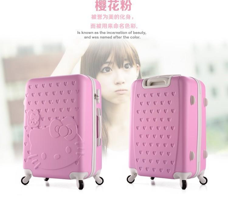 O Cute Kitty Luggage Bag School Sakura Pink 14 20