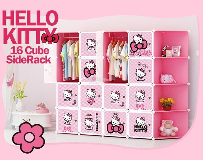 hello kitty 16 cube diy wardrobe w end 10 16 2018 12 11 am. Black Bedroom Furniture Sets. Home Design Ideas