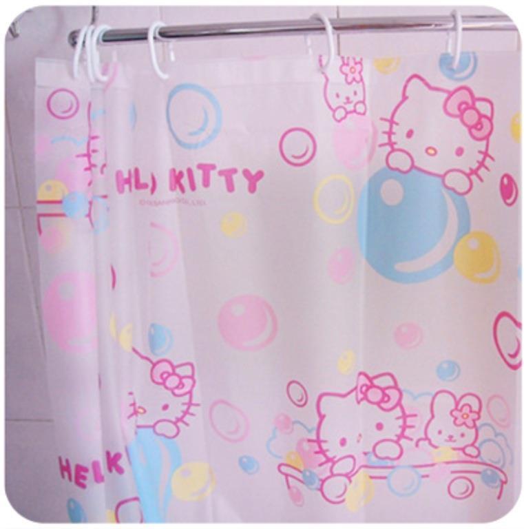 Hello Kitty 180cm X PVC Shower Curtain