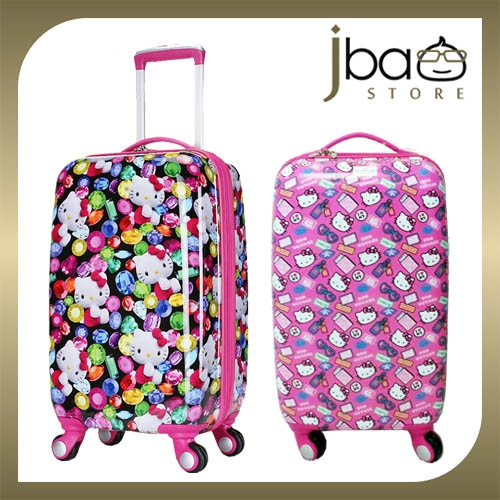 f4e8d5457 Hello Kitty 20 Inches Luggage Trolley Roller Baggage Travel Suitcase Bag. ‹  ›