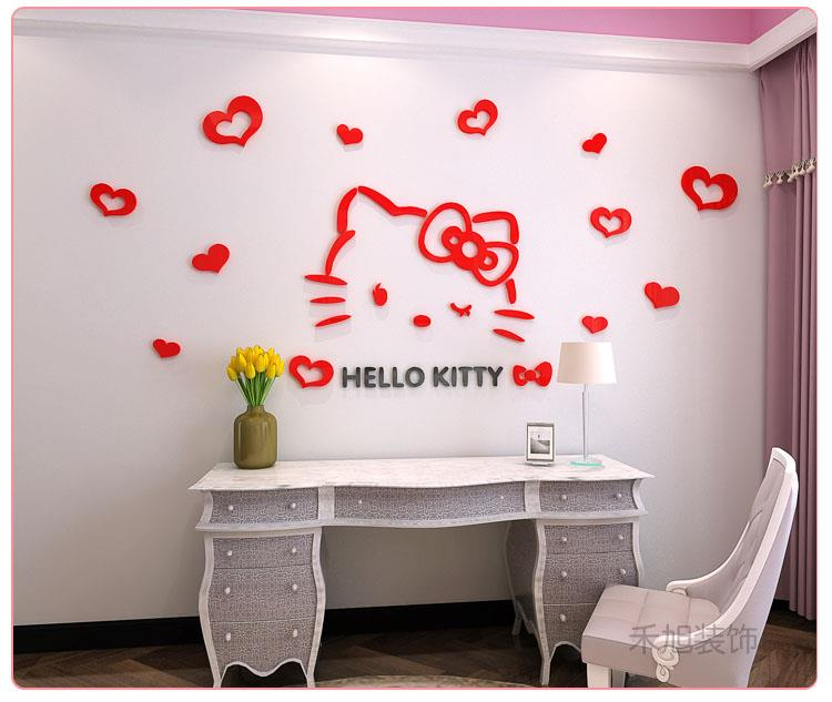 hello kitty 3d acrylic diy wall stick (end 7/8/2021 1:15 pm)