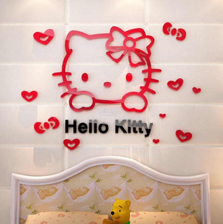 Hello Kitty 3D Wall Sticker Acrylic Material (Pink) (S) Part 61