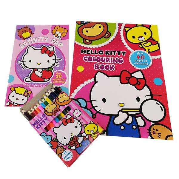 HELLO KITTY ACTIVITY & COLORING BOOK WITH COLOR PENCIL SET