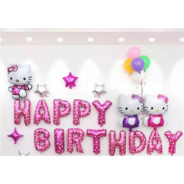 b4a20e8d2 Hello Kitty, Avengers, Micky Theme birthday party Balloon Decorations