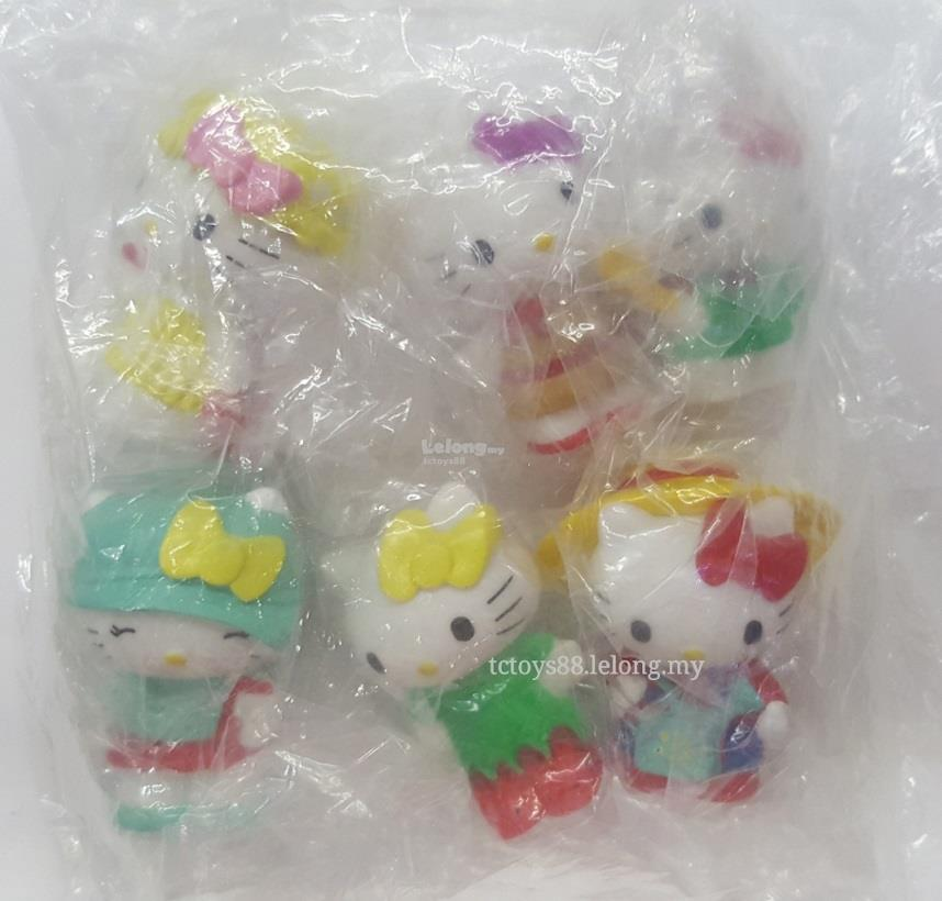 HELLO KITTY Figures. Hello Kitty Figurine / Cake Topper 6 pcs set