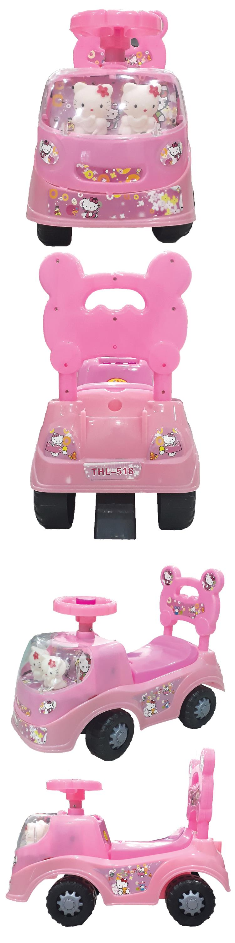 Hello Kitty Girl Kids Baby Walker Car Ride On Music Sound Fun Dolls
