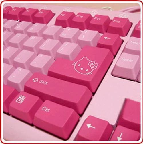 hello kitty keyboard set keyboard end 9 22 2017 9 48 pm. Black Bedroom Furniture Sets. Home Design Ideas